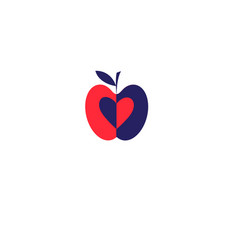 Apple red icon vector