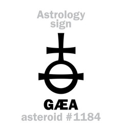 Astrology asteroid g vector