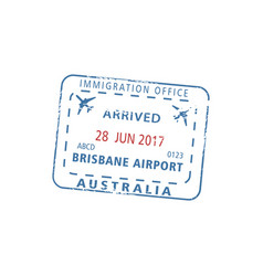 Australia border passport control brisbane visa vector