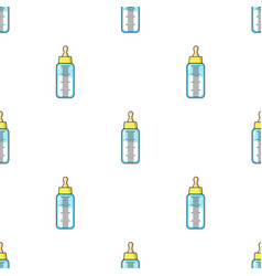 Baby bottle icon in cartoon style isolated on vector