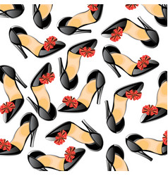 Background from feminine loafer vector