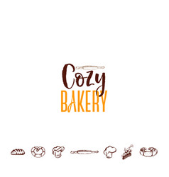Badge for small businesses - cozy bakery vector