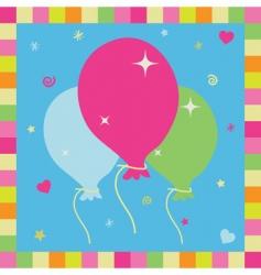 Balloon card vector
