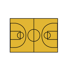 basketball field symbol vector image