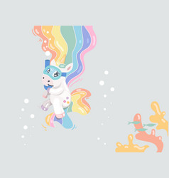 baswim unicorn vector image