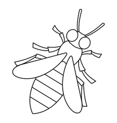 Bee icon outline style vector