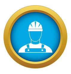 builder icon blue isolated vector image