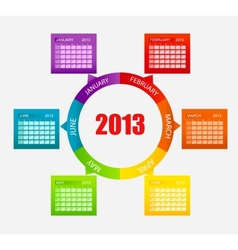 Calendar 2013 Part 1 vector image