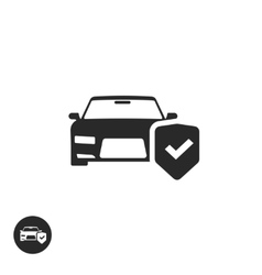 Car protection icon isolated concept of vector