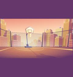 Cartoon background street basketball vector