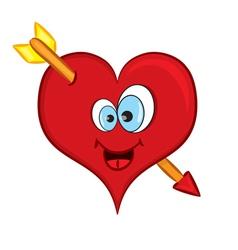 Cartoon heart vector image