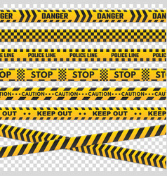 caution perimeter stripes isolated black and vector image
