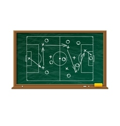 Chalk board with football game field vector