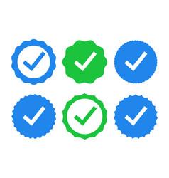 Check icon tick mark sign ok correct yes green vector