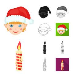 Christmas attributes and accessories cartoonblack vector
