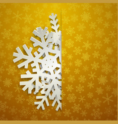 christmas background with big snowflakes vector image