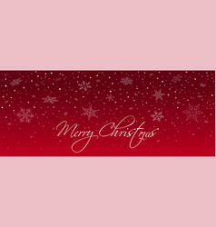 christmas card with falling snowflakes vector image