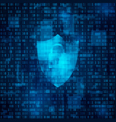 Concept cyber security cyberspace bynary code vector