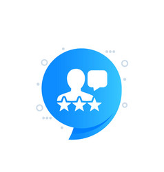 Customer review comment and feedback icon vector