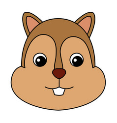 Cute and tender chipmunk vector
