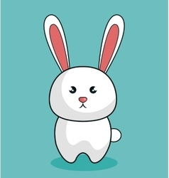 cute rabbit stuffed icon vector image