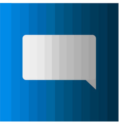 Dialog box icon on blue background vector