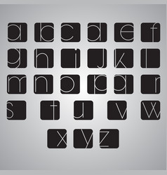 Elegant alphabet set vector