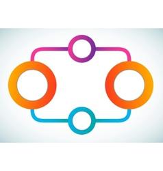 Empty color circle marketing flowchart vector image