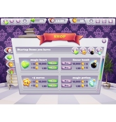Example of shop window for a computer game vector