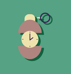 Flat icon design collection grenade time to vector