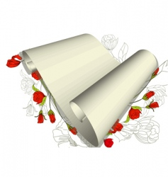 floral scroll vector image