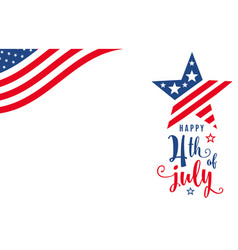 fourth july 4th july celebration holiday vector image