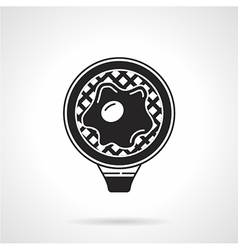 Fried egg black icon vector