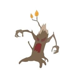 Halloween scary tree icon cartoon style vector