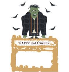 halloween with zombie vector image