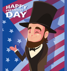 Happy president day president abraham lincoln vector
