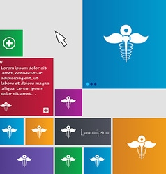 Health care icon sign buttons Modern interface vector