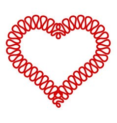 heart symbol icon simple style vector image