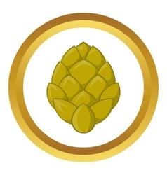 Hop cone icon vector