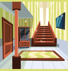 house interior apartment light room hallway with vector image