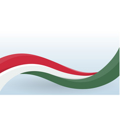 hungary waving national flag modern unusual shape vector image
