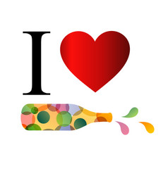 i love party or alcohol vector image