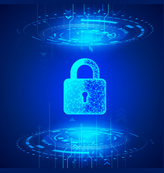 internet security cyber data defense or vector image