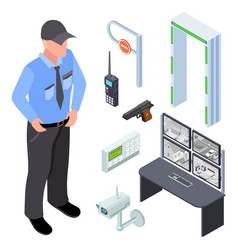 Inventory police security checkpoint vector