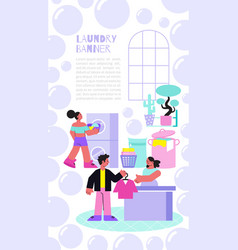 Laundry banner vector
