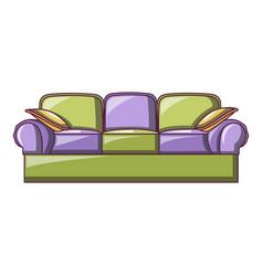 Lawson sofa icon cartoon style vector