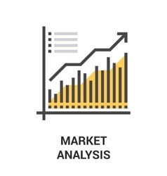 Market analysis icon concept vector