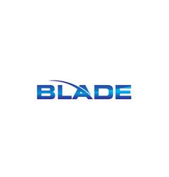 modern logo solution blade vector image