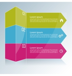 Modern template with colored column divided into vector image