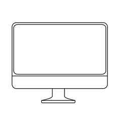 monitor computer isolated icon vector image